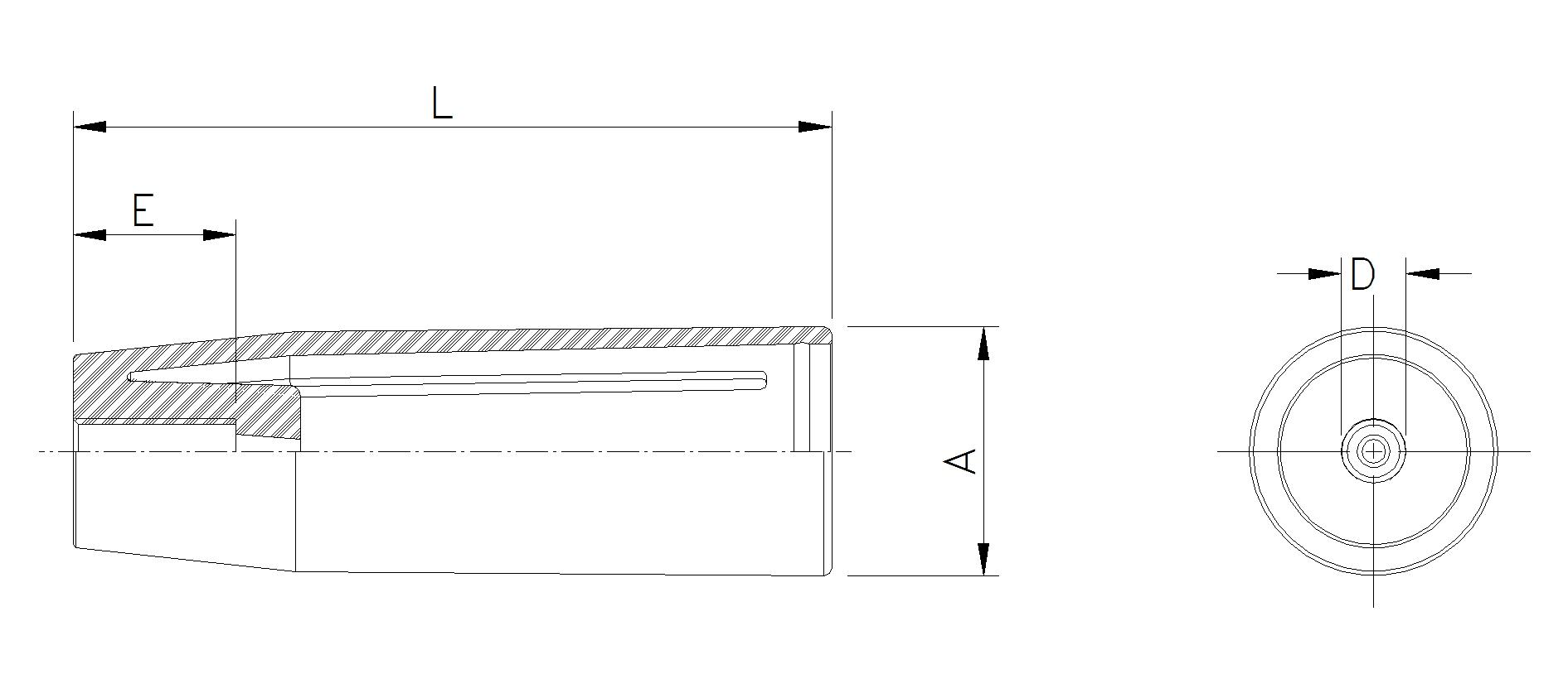 Цилиндрическая ручка PMF