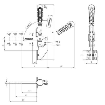 Вертикальный зажим 213-D