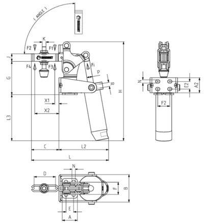 Вертикальный зажим 651